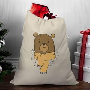 Winter Bear Christmas Santa Sack