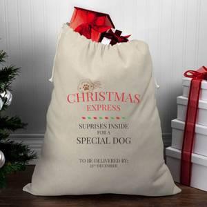 Christmas Express for A Special Dog Christmas Santa Sack