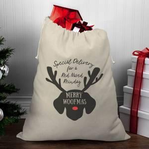 Merry Woofmas Christmas Santa Sack
