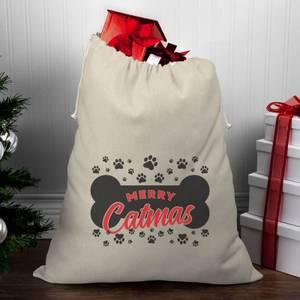 Merry Catmas Christmas Santa Sack