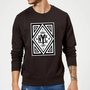NYC Diamond Sweatshirt - Black