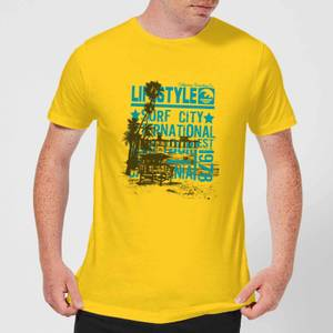 Surf City Men's T-Shirt - Yellow