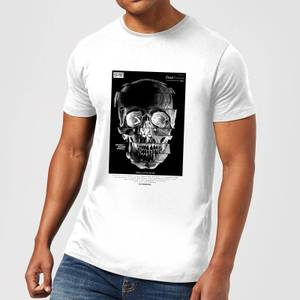 Distorted Skull Men's T-Shirt - White