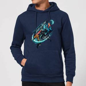 Aquaman Fight For Justice Hoodie - Navy Blau