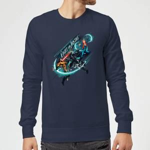 Aquaman Fight for Justice Sweatshirt - Navy