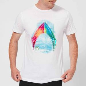 Aquaman Mera Beach Symbol Men's T-Shirt - White