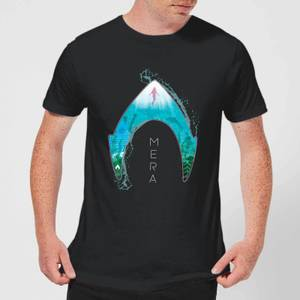 Aquaman Mera Logo Men's T-Shirt - Black