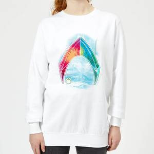 Aquaman Mera Beach Symbol Women's Sweatshirt - White