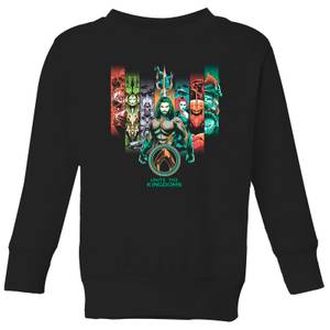 Sudadera DC Comics Aquaman Unite The Kingdoms - Niño - Negro