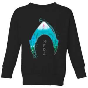 Aquaman Mera Logo Kids' Sweatshirt - Black