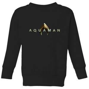 Aquaman Title Kids' Sweatshirt - Black