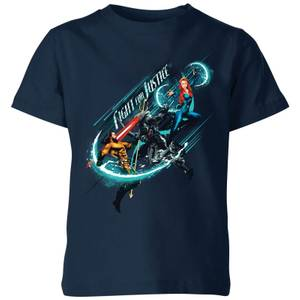 Aquaman Fight For Justice Kinder T-Shirt - Navy Blau
