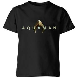 Aquaman Title Kinder T-Shirt - Schwarz