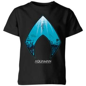 Aquaman Deep Kinder T-Shirt - Schwarz