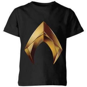 Aquaman Symbol Kinder T-Shirt - Schwarz