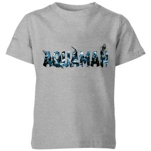Aquaman Chest Logo Kinder T-Shirt - Grau