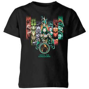 Aquaman Unite The Kingdoms Kids' T-Shirt - Black