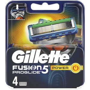 Gillette Fusion5 ProGlide Power Razor Blades (4 Pack)