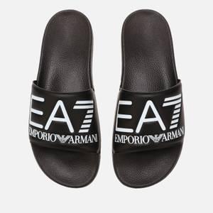 Emporio Armani EA7 Sea World Slide Sandals - Black