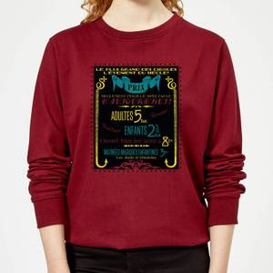 Fantastic Beasts Les Plus Grand Des Cirques Women's Sweatshirt - Burgundy