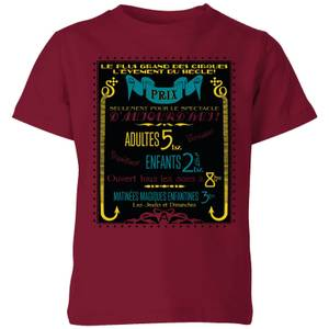 Fantastic Beasts Les Plus Grand Des Cirques Kids' T-Shirt - Burgundy