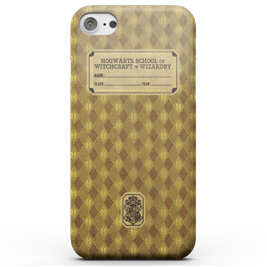 Harry Potter Hufflepuff Text Book Phone Case for iPhone and Android