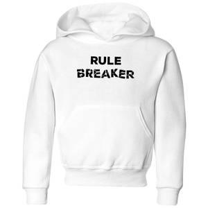 Rule Breaker Kids' Hoodie - White