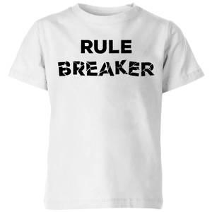 Rule Breaker Kids' T-Shirt - White