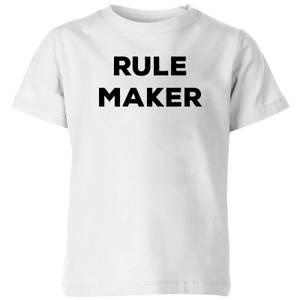 Rule Maker Kids' T-Shirt - White