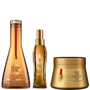 L'Oréal Professionnel Mythic Oil Shampoo, Masque and Oil Trio for Thick Hair