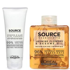 L'Oréal Professionnel Source Essentielle Dry Hair Shampoo and Hair Cream Duo