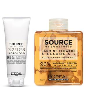 L'Oréal Professionnel Source Essentielle Dry Hair Shampoo and Hair Balm Duo