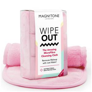 Magnitone London WipeOut! MicroFibre Cleansing Cloth with Antibacterial Protection - Pink (3er-Packung)