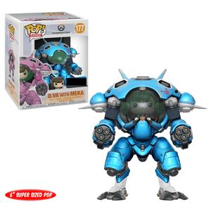 Figurine Pop! Overwatch D.VA Avec Meka Blueberry Exc 15 cm
