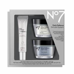 No7 Early Defence Skincare System 1.75oz (Worth $67)