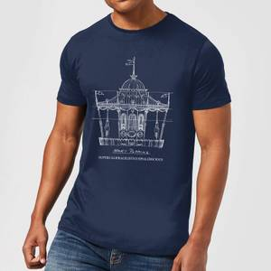 Mary Poppins Carousel Sketch Herren T-Shirt - Navy Blau