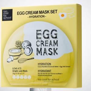 Too Cool For School Egg Cream Hydration Mask Set (5 Masks)