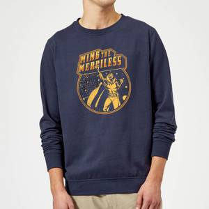Flash Gordon Ming The Merciless Retro Comic Sweatshirt - Navy