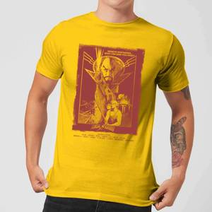 Flash Gordon Retro Movie Poster Men's T-Shirt - Yellow