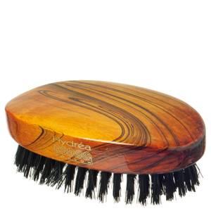 Деревянная расческа Hydrea London Military Hairbrush Gloss Finish with Pure Black Boar Bristle (жесткая), сертификат FSC