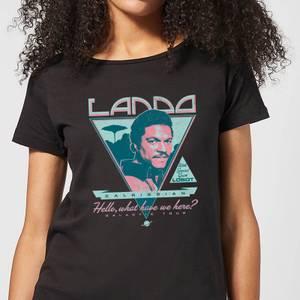 Star Wars Lando Rock Poster Women's T-Shirt - Black