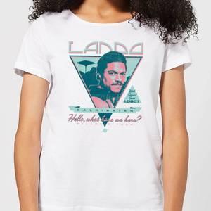 Star Wars Lando Rock Poster Women's T-Shirt - White
