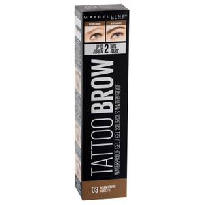 Maybelline Tattoo Brow Waterproof Gel 5ml (Various Shades)