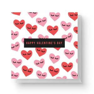 Happy Valentine's Day Square Greetings Card (14.8cm x 14.8cm)