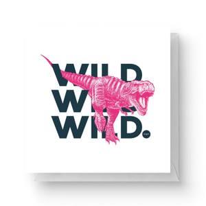 Wild Dinosaur Square Greetings Card (14.8cm x 14.8cm)