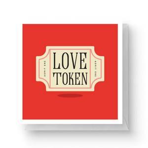 Love Token Square Greetings Card (14.8cm x 14.8cm)