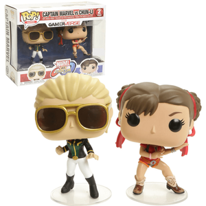 Marvel - Captain Marvel vs Chun Li 2-Pack EXC Pop! Vinyl