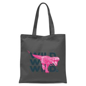 Wild Dinosaur Tote Bag - Grey