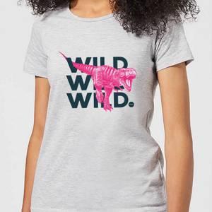 Wild Dinosaur Women's T-Shirt - Grey