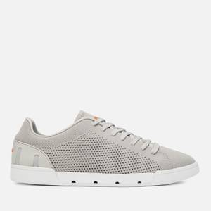 SWIMS Men's Breeze Tennis Knit Trainers - Light Grey/White
